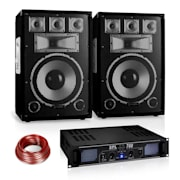 "PA Set Sapphire Series ""Warm Up Party"" 12PLUS cu pereche de difuzoare și amplificator 700W"