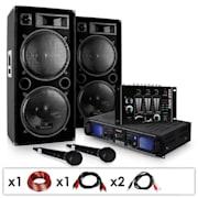 """DJ SET """"DJ-20.1"""" PA erősítő, PA hangfal, keverőpult, 2000W"""
