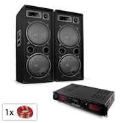 "Malone Bluetooth SPL bluetooth mp3 este compus din boxe de subwoofer de 2x12 "" și amplificator 1500W"