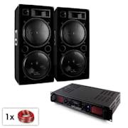 "PA Set ""Malone SPL Bluetooth MP3"" Paar 2x15"" Lautsprecher & Verstärker 2000W"