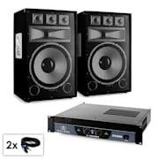 "PA Set Saphir Series ""Warm Up Party TX15"" Paar 38cm Boxen & Verstärker 2000W"