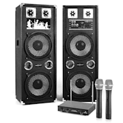 "Karaoke Set ""STAR-210A"" PA zvočniki, brezžični mikrofon, 1200W"