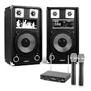 "Караоке Комплект ""STAR-10A"" високоговорители, безжичен микрофон, 600W"