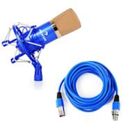 CM001BG Microfono a Condensatore Studio blu/oro