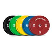 Nipton Bumper Weight Plates 5 Pairs 5 kg - 25 kg Hard Rubber