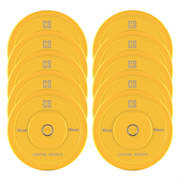 Nipton Bumper Plates, žluté, 5 párů, 15 kg, tvrdá guma 10x 15 kg