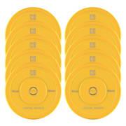 Nipton Bumper Plates, žuta, 5 pari, 15 kg, tvrda guma 10x 15 kg