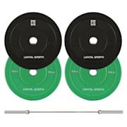 Nipton Mens Set I, olympijská tyč, 2 páry závaží, 5 a 10 kg