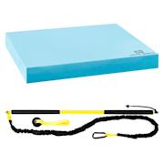 Riprider felfüggeszthető edző készlet balance alátéttel, 9 kg húzóerő, EVA, kék