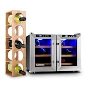 Reserva Saloon Zestaw 2-częściowy: chłodziarka do wina + regał na wino