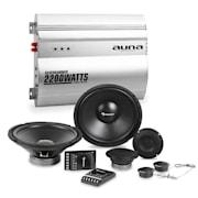 Silverhammer Car-HiFi-Set | Sistema de Altifalantes | Amplificador 2 canais