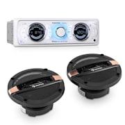 MD-170-BT Set hi-Fi Car Autoradio + Altoparlanti 4 Vie MP3 USB SD BT