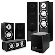 Black-Line 5.1 Système audio HiFi home cinema 5 enceintes & subwoofer 10""