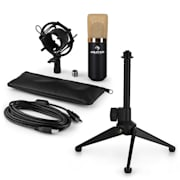 MIC-900BG-LED USB Microphone Set V1 | Condenser Microphone | Height-adjustable Tabletop Stand