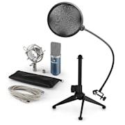 MIC-900BL V2, USB mikrofon set, plavi, kondenzatorski mikrofon + pop-filter + stalak za stol
