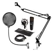 MIC-920B V4, USB Črni mikrofonski set, Kondenzatorski mikrofon, Mikrofonsko Rameno, POP-filter