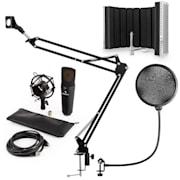 auna MIC-920B USB mikrofon szett V5 kondenzátoros mikrofon, pop filter, mikrofonernyő, mikrofon kar