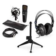 auna MIC-920B USB mikrofon készlet V1 fülhallgató, kondenzátoros mikrofon, állvány