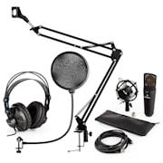 MIC-920B USB mikrofónová sada V4 slúchadlá, mikrofón, mikrofónové rameno , pop filter