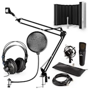 MIC-920B, USB микрофонен комплект V5, слишалки, микрофон, микрофонено рамо, параван