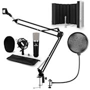 CM003 zestaw mikrofonowy V5 mikrofon pojemnościowy XLR ramię czarny