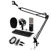 CM003 mikrofonski komplet V3, kondenzatorski mikrofon, USB-pretvornik, mikrofonska roka, črna barva