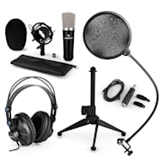 CM003 mikrofonní sada V2, kondenzátorový mikrofon, USB konvertor, sluchátka, mikrofonní stojan