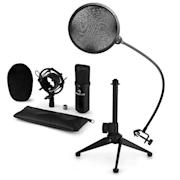 CM001B Zestaw V2 mikrofon pojemnościowy statyw mikrofonowy pop-filtr czarny