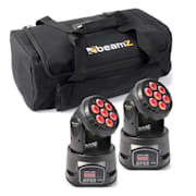 Set de efectos de luz 2x MHL-74 Moving-Head Mini Wash & 1x Soft Case