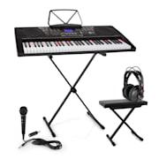 Etude 225, USB električne klavijature za vježbanje sa slušalicama, mikrofonom, jack adapterom i stalkom za klavijature