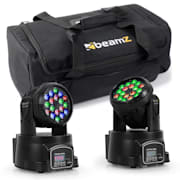 Light Effect Set With Transport Bag 2x LED-108 Moving Head & 1x Soft Case