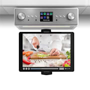 "Connect Soundchef Kitchen Radio with Tablet Holder DAB + FM 2x3"" Boxes White White 