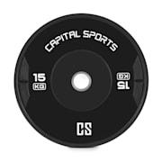 Elongate Bumper Plate Gewichtsplatte Gummi 2x 15kg 2x 15 kg