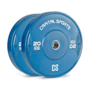 Nipton 20, kotouč, závaží, 1 x 20 kg, tvrzená pryž, modrý 20 kg