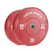 Nipton 25, disk, uteg, 1 x 25 kg, tvrda guma, crvena 25 kg
