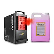 S2500, mașină de ceață, 2500 W, 24 x 10 W, 4-în-1, LED DMX, rezervor 3.5 l inclusiv lichid 5 litri