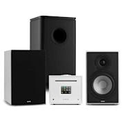 Unison Reference 802 Edition stereoanläggning förstärkare boxar vit/svart