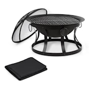 Pentos 2-in-1 Fire Bowl Ø73cm Spark Protection Ø60cm Grill Protective Cover
