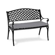 Pozzilli B,L градинска пейка и възглавница комплект, черно/сива Black_grey