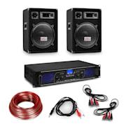 """Amplificator HiFi și set de boxe, amplificator 2 x 350 W , 2 x boxe 12 """", 300 W RMS Amplificator 2x350 W speaker 600 W"""