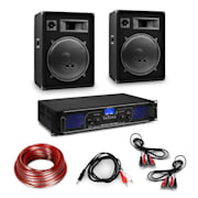 """Amplificator HiFi și set de boxe, amplificator 2 x 350 W , 2 x boxe 15 """", 400 W RMS Amplificator 2x350 W speaker 800 W"""