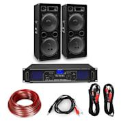 """Amplificator HiFi și set de boxe, amplificator 2 x 500 W , 2 x boxe 12 """", 500 W RMS Amplificator 2x500 W speaker 1000 W"""