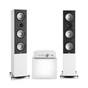 Drive 801 Stereo Set Stereo Amplifier + Tower Speakers White / White