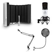 MIC-920 USB Mikrofon-Set V5 Kondensatormikrofon Mikrofonarm POP-Schutz Mikrofonabschirmung weiß