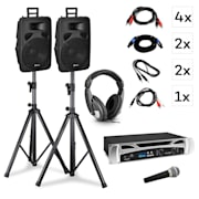 Singapore, DJ system - set, PA amplifier 2 x 500 W, 2 x 2-way speaker