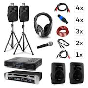 Lisbon, DJ sistem - komplet, PA ojačevalnik, PA zvočnik, DJ slušalke, mikrofon