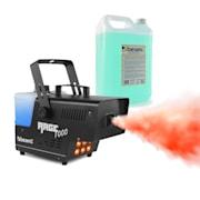 Rage 1000LED, Macchina del Fumo, Liquido incl., 6 LED RGB da 3 Watt, 125m³/min, 2l Vol., 1000W