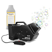 QTFX-B3 Mega Bubble Machine Seifenblasenmaschine Set 1,8 Liter + 1 Liter Liquid