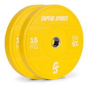 Nipton 2021 Gewichtsplatte Bumper Plate | 2 x 15 kg | Ø 54 mm | Hartgummi 2x 15 kg