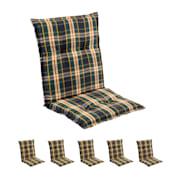 Prato Polsterauflage Sesselauflage Niedriglehner Gartenstuhl Polyester 50x100x8cm Gelb | 6 x Sitzauflage